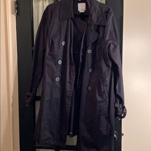 Black Old Navy Trench coat